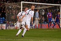 Photo: Daniel Hambury.<br />Crystal Palace v Preston North End. The FA Cup. 07/02/2006.<br />Preston's Daniel Dichio celebrates his equalising goal.