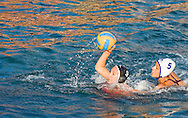 Water polo match, local (non professional) women's final, in the evening on the waterfront in Zadar, Croatia (Saturday 11 August 2012)