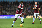 Aston Villa midfielder (on loan from Everton) Yannick Bolasie (11) sprints forward with the ball during the EFL Sky Bet Championship match between Aston Villa and Queens Park Rangers at Villa Park, Birmingham, England on 1 January 2019.