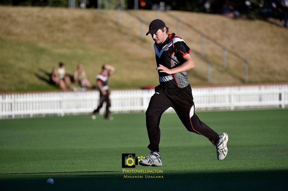 Action from the Premier Cricket Twenty20 Final - Taita v Eastern Suburbs at Basin Reserve, Wellington, New Zealand on Wednesday 28 January 2015. <br /> Photo by Masanori Udagawa.   <br />  www.photowellington.photoshelter.com.