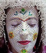 Foto/Burim Myftiu<br /> The Bride from Llokvica, Kosova<br /> Torbeshi Minority Community<br /> Pagan traditional face painting in wedding ceremony