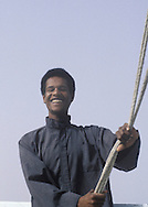 Nile boatman on his feluca