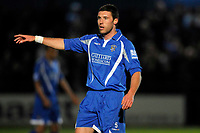 Jon Ashton (Grays) points. Grays Athletic Vs Carlisle United. FA Cup 1st round replay. The New Recreation Ground. Essex. 18/11/2008. Credit Colorsport/Garry Bowden