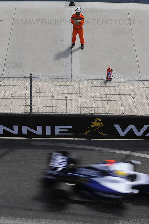 Williams driver Nico Rosberg photographed during Qualifying for the 2009 Monaco Grand Prix.