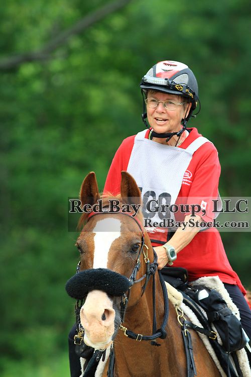 Ruth Sturley on RBF Super Sport at the FEI Sanctioned Endurance ride at the OCTRA Provincial Championships, New Lowell, Ontario, Canada
