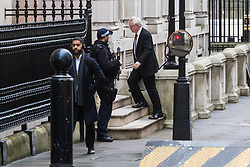 London - Secretary of State for Exiting the European Union David Davis arrives at his office before he attends the weekly meting of the UK cabinet at Downing Street. January 23 2018.