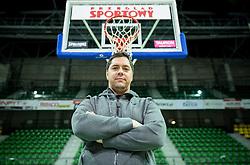 Saso Filipovski, head coach of basketball club Stelmet BC Zielona Gora (POL) prior to the practice session of his team, on January 21, 2016 in CRS Hala Zielona Góra, Zielona Gora, Poland. Photo by Vid Ponikvar / Sportida