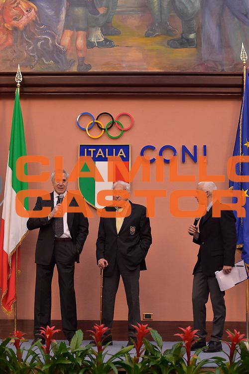 DESCRIZIONE : Roma Basket Day Hall of Fame 2014<br /> GIOCATORE : Alessandro Gamba Marino Zanatta<br /> SQUADRA : FIP Federazione Italiana Pallacanestro <br /> EVENTO : Basket Day Hall of Fame 2014<br /> GARA : Roma Basket Day Hall of Fame 2014<br /> DATA : 22/03/2015<br /> CATEGORIA : Premiazione<br /> SPORT : Pallacanestro <br /> AUTORE : Agenzia Ciamillo-Castoria/GiulioCiamillo