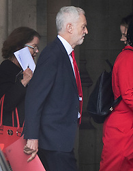 © Licensed to London News Pictures. 19/06/2019. London, UK. Labour Party Leader Jeremy Corbyn walks to Prime Minister's Questions in Parliament. Boris Johnson has cemented his position as favourite to become the next Prime Minster after winning a clear majority in the second round of the conservative party's leadership race. Photo credit: Peter Macdiarmid/LNP