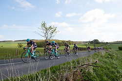 Peloton speed off the categorised climb at ASDA Tour de Yorkshire Women's Race 2018 - Stage 1, a 132.5 km road race from Beverley to Doncaster on May 3, 2018. Photo by Sean Robinson/Velofocus.com