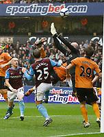 Photo: Steve Bond/Richard Lane Photography. Wolverhampton Wanderers v Aston Villa. Barclays Premiership 2009/10. 24/10/2009. Sylvan Ebanks-Blake tries a spectacular scissors kick in the 6 yard box