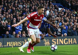 May 8, 2017 - Chelsea, Greater London, United Kingdom - Stewart Downing of Middlesbrough.during Premier League match between Chelsea and Middlesbrough at Stamford Bridge, London, England on 08 May 2017. (Credit Image: © Kieran Galvin/NurPhoto via ZUMA Press)