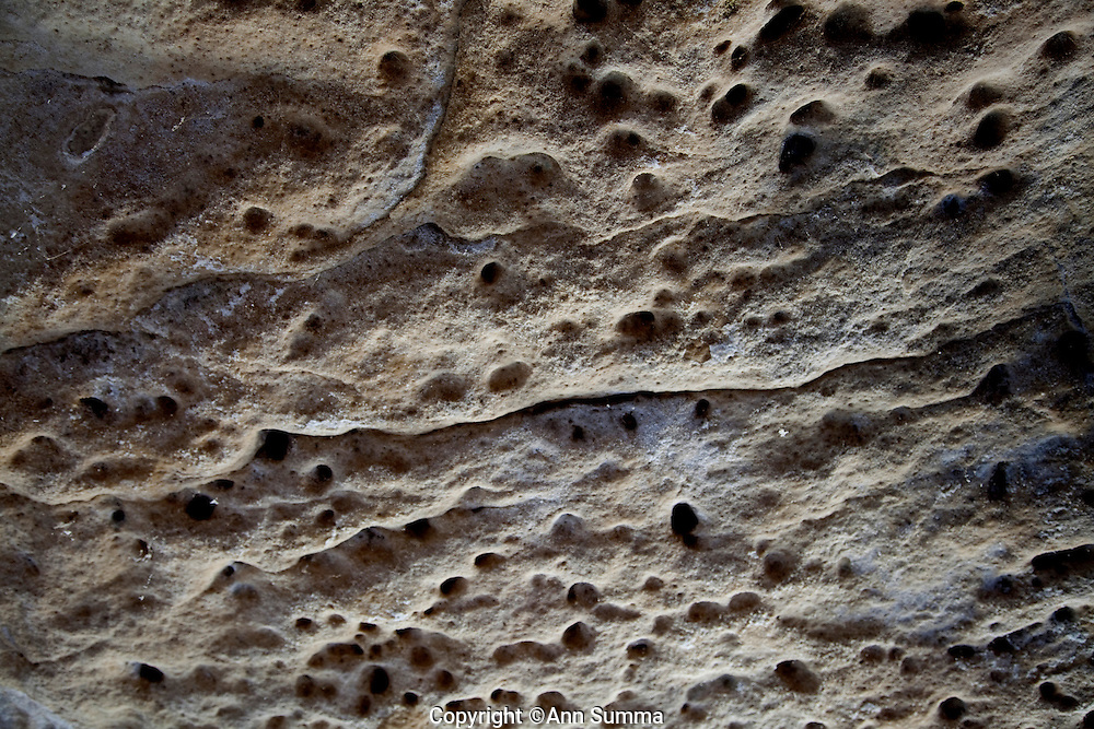 Festus, Missouri: Detail of the limestone ceiling of Curt and Deborah Sleeper's 2,000 square foot home is built inside a 17,000 square foot cave in this small town south of St. Louis.