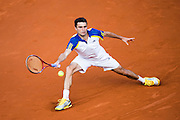 Paris, France. Roland Garros. June 2nd 2013.<br /> French player Gilles SIMON against Roger FEDERER