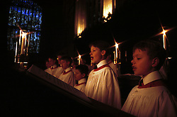 Kings College Chapel, Cambridge...Kings College school boys choir, rehearsing for their carol concert on christmas eve, December 17, 1999. Photo by Andrew Parsons / i-images..