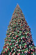 Tall 90 foot, Christmas Tree, Xmas, Holiday, Decorations, Tree Decorated, Balls, Lights