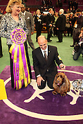 l to r: Judge Sari Brewester Tietjen, Scott Somer(Handler) and winner Best in Show, Stump(Sussex Spaniel), at The 133rd Westminister Annual All Breed Dog Show Finals held at Madison Square Garden on February 10, 2009..It is, quite simply the greatest tradition in the world of dogs.  For the 133rd consecutive year, the Westminister Kennel Club will once again bring together the world's very best dogs in the world's greatest sporting arena to compete for the most coveted title in the sport: Best in Show at the Westminister Kennel Club All Breed Dog Show.