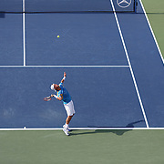 Lleyton Hewitt, Australia, in action against Mikhail Youzhny, Russia, during the Men's Singles competition at the US Open. Flushing. New York, USA. 3rd September 2013. Photo Tim Clayton