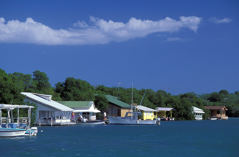 Beach houses, Parguera, Puerto Rico, Caribbean
