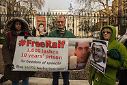 8 Jan 2016 - Amnesty International protest at Saudi Arabian Embassy in London.