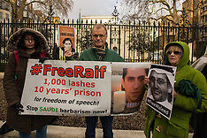8 Jan 2016 - Amnesty International protest at Saudi Arabian Embassy in London.