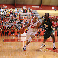 Jan 31, 2009; Piscataway, NJ, USA; Rutgers guard Brittany Ray (35) drives to the net against South Florida guard Janae Stokes (21) during the second half of South Florida's 59-56 victory over Rutgers in NCAA women's college basketball at the Louis Brown Athletic Center