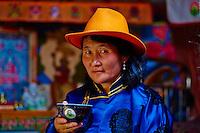 Mongolie, province de Bayankhongor, campement nomade, Alimaa Nenjin, 49 ans // Mongolia, Bayankhongor province, nomad camp, Alimaa Nenjin, 49 years old