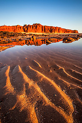 Late afternoon reflections at James Price Point, north of Broome.