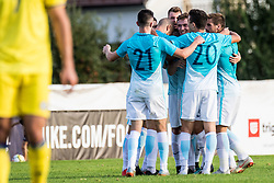 Erik Gliha, Alen Ozbolt, Matic Vrbanec of Slovenia during football match between Slovenia and Kazahstan in Qualifying round for European Under-21 Championship 2019, on September 11, 2018 in Mestni Stadium Ptuj, Slovenija, 2018. Photo Grega Valancic