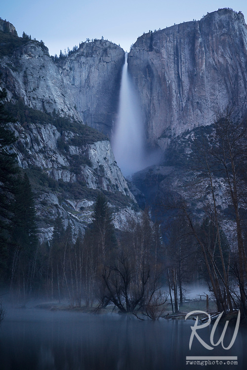 Yosemite Falls and Merced River at Dawn, Yosemite National Park, California