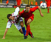 Fotball<br /> EM-kvalifisering<br /> 10.09.2003<br /> Belgia v Kroatia<br /> NORWAY ONLY<br /> Foto: Phot News/Digitalsport<br /> <br /> STJEPAN SIMUNIC / THOMAS BUFFEL