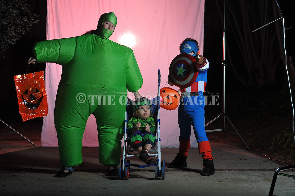 Franklin children pose on Halloween in Oxford, Miss. on Wednesday, October 31, 2012.
