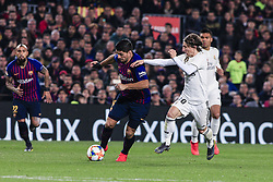 February 6, 2019 - Barcelona, Spain - 09 Luis Suarez of FC Barcelona during the semi-final first leg of Spanish King Cup / Copa del Rey football match between FC Barcelona and Real Madrid on 04 of February of 2019 at Camp Nou stadium in Barcelona, Spain  (Credit Image: © Xavier Bonilla/NurPhoto via ZUMA Press)