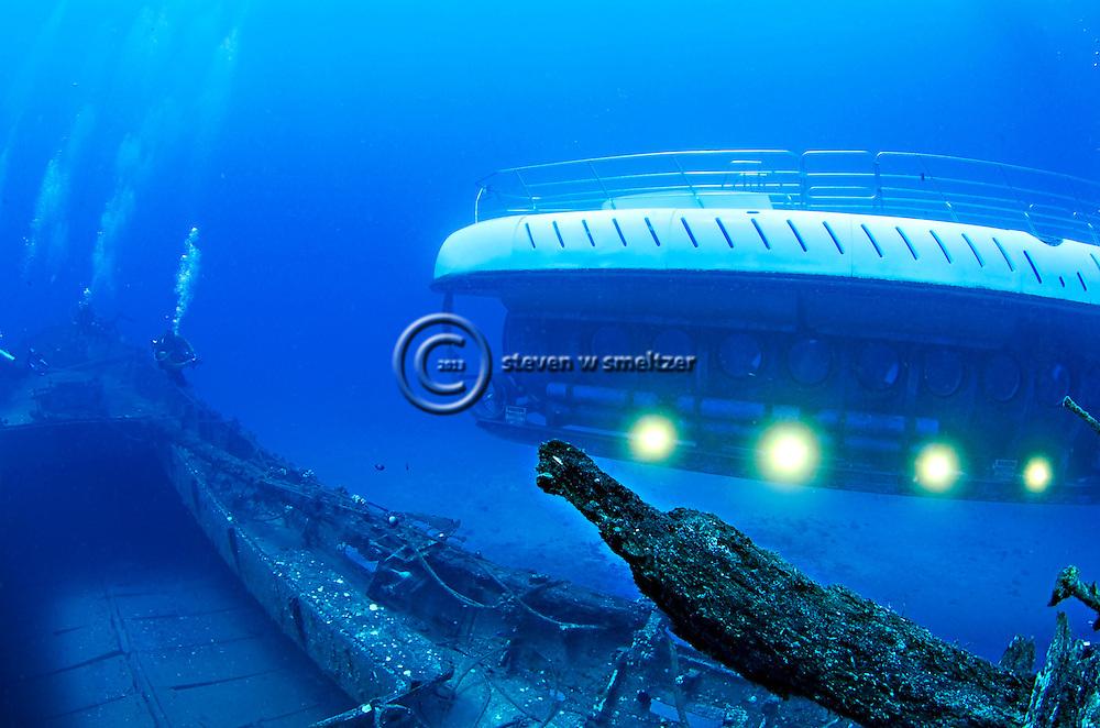 Atlantis Submarine off Starboard, Carthaginian II, Maui Hawaii