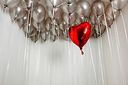 Dec. 05, 2012 - Heart shape balloon amongst plain balloons (Credit Image: © Image Source/ZUMAPRESS.com)
