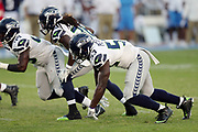 Seattle Seahawks linebacker Ortha Peters (53) rushes during the 2017 NFL week 1 preseason football game against the against the Los Angeles Chargers, Sunday, Aug. 13, 2017 in Carson, Calif. The Seahawks won the game 48-17. (©Paul Anthony Spinelli)