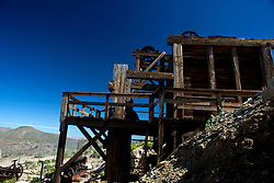 Ruins of the mill structure, Lost Horse Mine, Joshua Tree National Park, California, United States of America