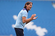 SS Lazio's manager Simone Inzaghi during the Pre-Season Friendly match between Brighton and Hove Albion and SS Lazio at the American Express Community Stadium, Brighton and Hove, England on 31 July 2016.