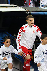 23.04.2014, Estadio Santiago Bernabeu, Madrid, ESP, UEFA CL, Real Madrid vs FC Bayern Muenchen, Halbfinale, Hinspiel, im Bild Toni Kroos #39 (FC Bayern Muenchen) kommt aus dem Tunnel // during the UEFA Champions League Round of 4, 1st Leg Match between Real Madrid vs FC Bayern Munich at the Estadio Santiago Bernabeu in Madrid, Spain on 2014/04/23. EXPA Pictures &copy; 2014, PhotoCredit: EXPA/ Eibner-Pressefoto/ Kolbert<br /> <br /> *****ATTENTION - OUT of GER*****