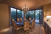 Interior of a dining room in a luxury villa