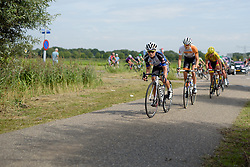 Emilie Moberg (Hitec Products) leads the break at the 111 km Stage 4 of the Boels Ladies Tour 2016 on 2nd September 2016 in 's-Hertogenbosch, Netherlands. (Photo by Sean Robinson/Velofocus).