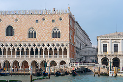 Views of the Doge's Palace and the Bridge of Sighs in Venice. From a series of travel photos in Italy. Photo date: Monday, February 11, 2019. Photo credit should read: Richard Gray/EMPICS Entertainment