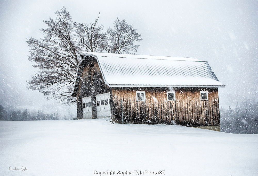VT Barn in VT Snow
