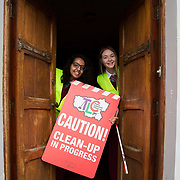 03.04.2017        <br /> Laurel Hill Secondary School, Limerick takes part in TLC3. <br /> Pictured are students, Sneha Banerjee and Sinead Ryan. Picture: Alan Place.
