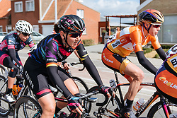 Lisa Brennauer in the lead group as the race heads to Kemmelberg for one final time - Women's Gent Wevelgem 2016, a 115km UCI Women's WorldTour road race from Ieper to Wevelgem, on March 27th, 2016 in Flanders, Belgium.