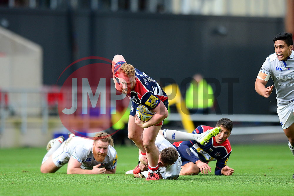 Will Hurrell of Bristol Rugby is tackled  - Mandatory by-line: Dougie Allward/JMP - 26/02/2017 - RUGBY - Ashton Gate - Bristol, England - Bristol Rugby v Bath Rugby - Aviva Premiership