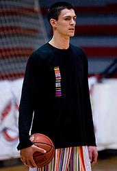 Dejan Cigoja at practice of KK Slovan basketball team, on February 3, 2010 in Arena Kodeljevo, Ljubljana, Slovenia.  (Photo by Vid Ponikvar / Sportida)