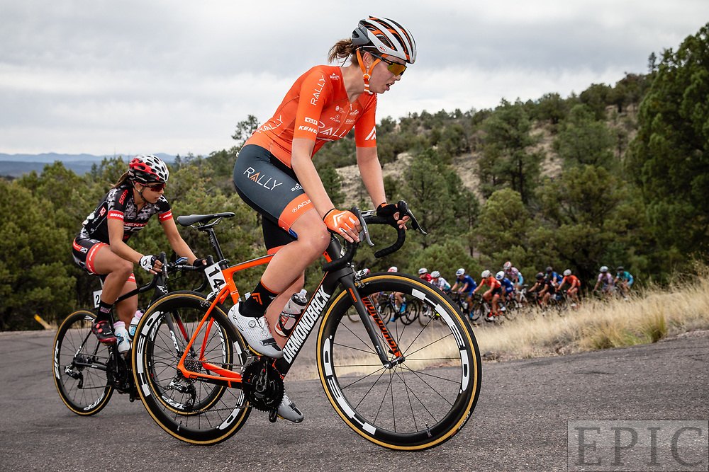 SILVERY CITY, NM - APRIL 22: Emma White (Rally Cycling) climbs during stage 5 of the Tour of The Gila on April 22, 2018 in Silver City, New Mexico. (Photo by Jonathan Devich/Epicimages.us)