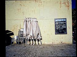 Barcelona, Catalunya, Spain<br /> A street scene in Barceloneta a neighbourhood of Barcelona.<br /> &copy;Carmen Secanella
