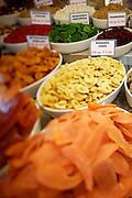 The Naschmarkt, Vienna's biggest market. Dried banana chips.
